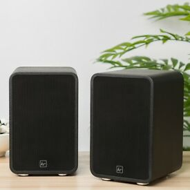 Kitsound Reunion Wireless powered Bookshelf Speakers - as new