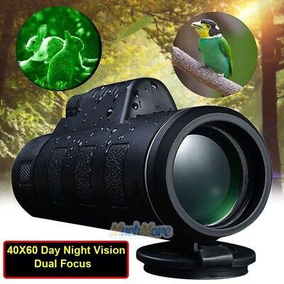 Super High Power 40X60 Portable HD OPTICS Dimly Night Vision Monocular Telescope