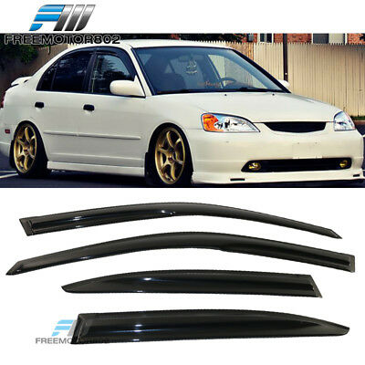 For 01-05 Honda Civic ES1 ES2 7Th Gen Sedan Mugen Style Window Visor Rain Guard