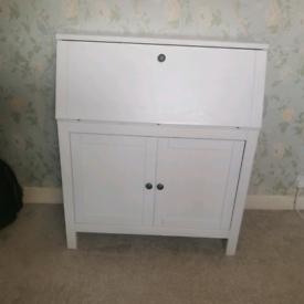 HEMNES DESK Bureau, white stain89x108 cm