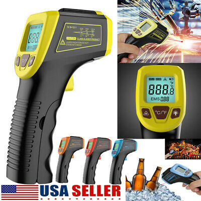 Infrared Thermometer Lcd Laser Temperature Gun Ir Temp Meter Non-contact Digital