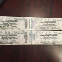 4 Tickets to Labour Day Classic Rider Game $50 each