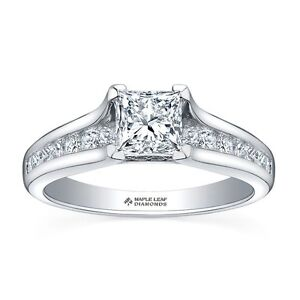 18K White gold Canadian Diamond Princess Cut Engagement ring Oakville / Halton Region Toronto (GTA) image 2