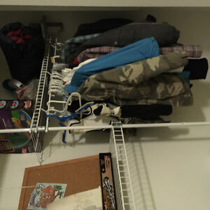 White closet organizer from Home Depot London Ontario image 3