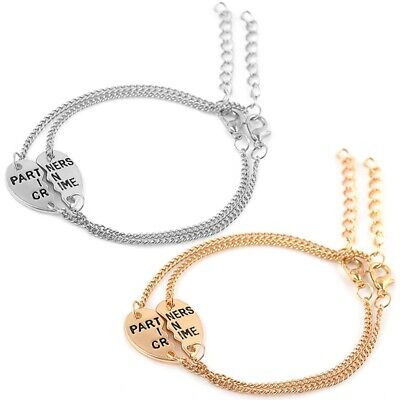 Heart Shaped Stitching His and Hers Lovers Matching Couple Lucky Love Bracelets (Heart Shaped Bracelets)