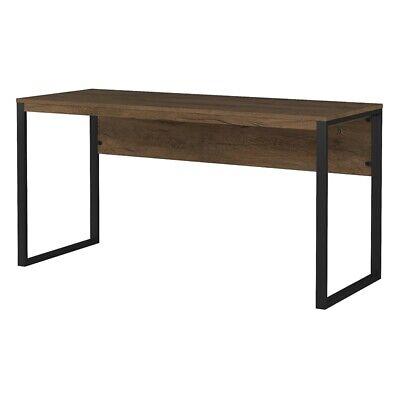 - Bush Furniture Latitude 60W Writing Desk in Rustic Brown Embossed