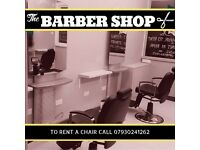 Barber Chairs to Rent - Renowned Barber Shop - £100 Weekly - Newly Renovated - Fantastic Location