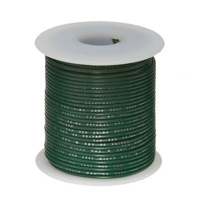 30 Awg Gauge Stranded Hook Up Wire Green 100 Ft 0.0100 Ptfe 600 Volts