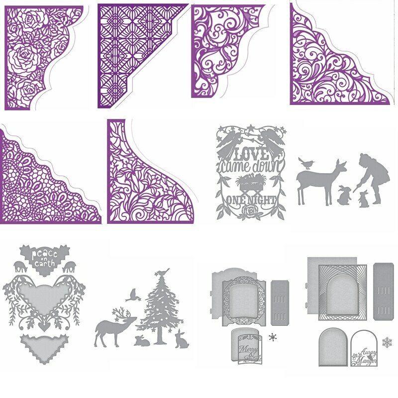 Lace Borders Frame AnimalsMetal Cutting Dies Stencils DIY Sc