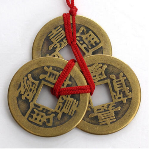 New fashion 2 set of 3 chinese feng shui coins for wealth - Feng shui good luck coins ...