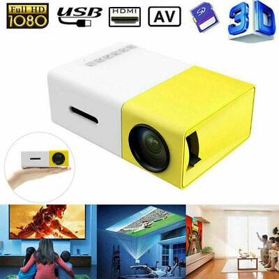 YG300 1080P HD Home Theater Cinema USB HDMI AV SD Mini Portable HD LED Projector