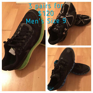 3 pairs of Top of the line Men's sneakers, $120