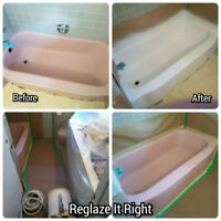 Bathtub & Tile Refinishing, Grout Cleaning & Caulking Renewal