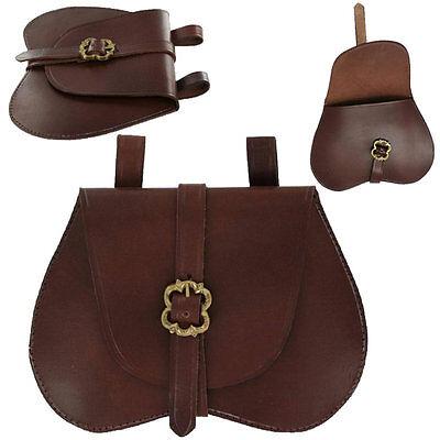 Leather Medieval Belt POUCH for Rennie Faire Pirate SCA LARP Festival Bag Viking