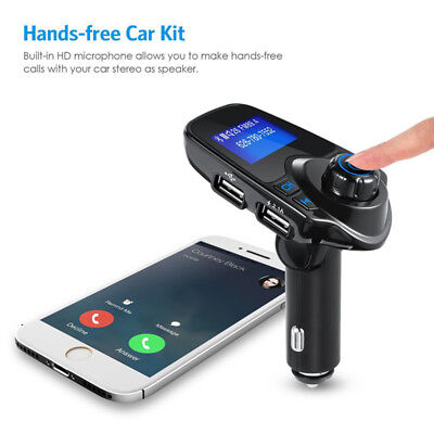 New Car Music FM Transmitter Bluetooth Handsfree Car Kit Wireless Radio Dual USB