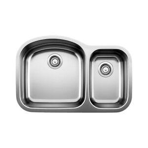 Blanco 400739 Blancowave Plus U Double Undermount Kitchen Sink