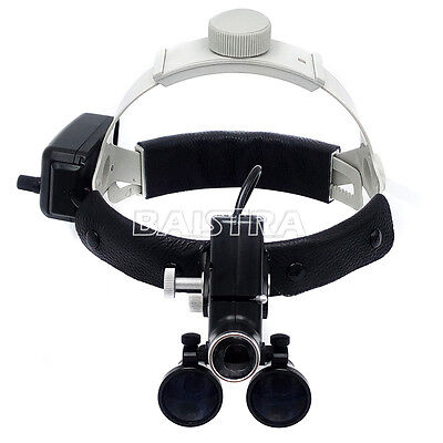 Dental Surgical Led Headlight Headband Binocular Loupes Dentist Black 3.5x-r New
