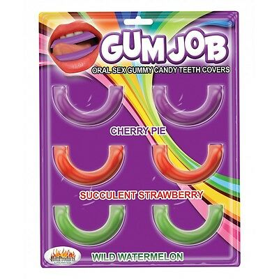 Oral Gum Job Gummy Candy Teeth Covers Unisex Flavored Low Carb 6 Pack