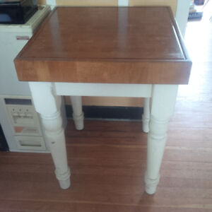 Solid Butcher Block table