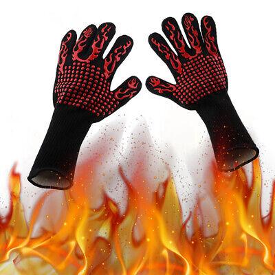 1 Par de Cocina Ignífuga Guantes Calor Resistente Horno para Parrilla Barbacoa