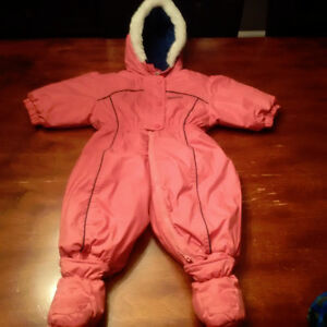 Oshkosh 12 month one piece snowsuit with removable boots- $8.00