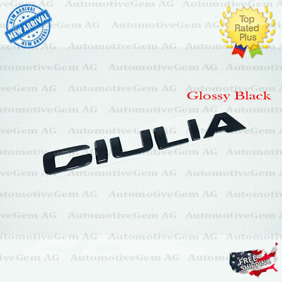 OEM Alfa Romeo Giulia Emblem Glossy Black Logo Trunk Lid Emblem Badge Sticker