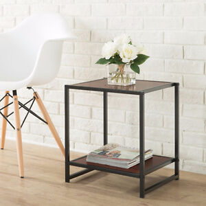 Modern Studio Collection 15 Inch Square Side Table / End Table
