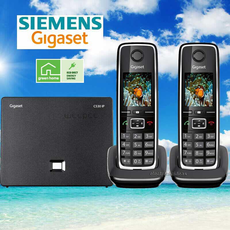 SIEMENS GIGASET C530IP CORDLESS HYBRID PHONE SYSTEM IP / LAN