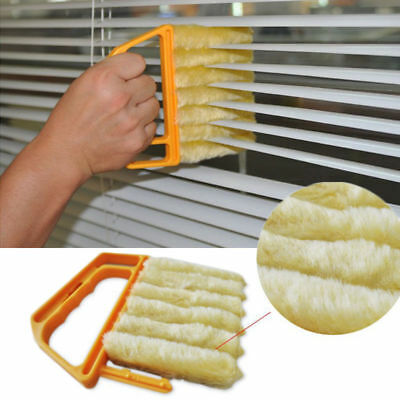Microfibre Venetian Blind Brush Window Air Conditioner Duster Dirt Clean Cleaner