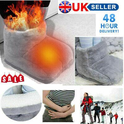 Electric Heated Foot Warmer Comfort Massager Feet Winter Hot Boots Slipper Tools