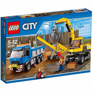 lego 60075  excavator and truck  311pcs  (new)
