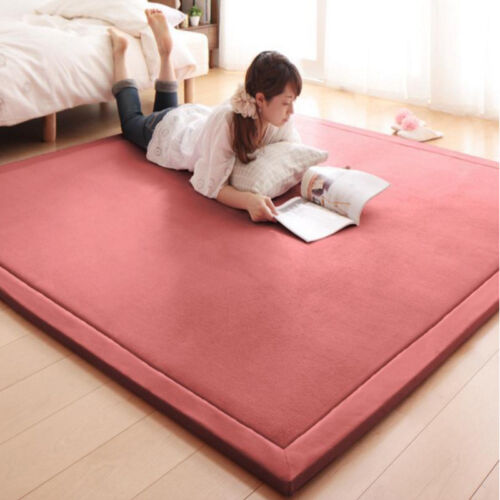 Kids Playing Tatami Carpet Living Room Bedroom Mat Soft Coral Fleece ...