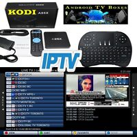 FREE month IPTV w/purchase Android TV Box and wireless Keyboard