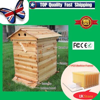 Upgraded Automatic Honey Bee Frames /Beehive Beekeeping Wooden House UK Stock