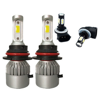 For Dodge Dakota 2001-2004 9007 LED Headlight Hi/Lo + 881 Fog Light Bulb Combo 04 Dodge Dakota Led