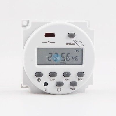 DC 12V 16A LCD Digital Programmable Timer Switch Time Relay Up to 8 Cycles/Day