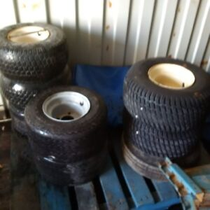 8 used golf cart tires on rims