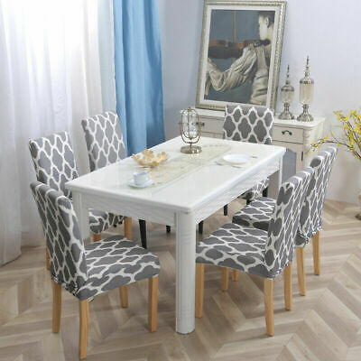 4Pcs/set Dining Chair Cover Stretch Seat Protector for Kitchen Hotel Table ()