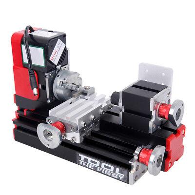 Lathe Metall Motorisierte Drehmaschine Maschine Holzbearbeitung Power Tool Mini