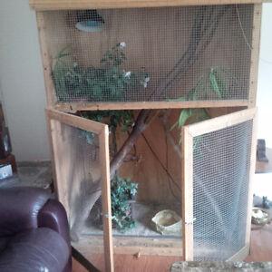 Iguana cage, approx 7' H x 5'L