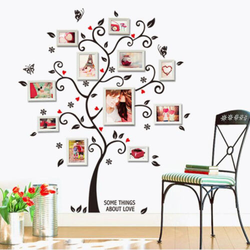 large photo frame family tree removable 3d wall stickers art decal
