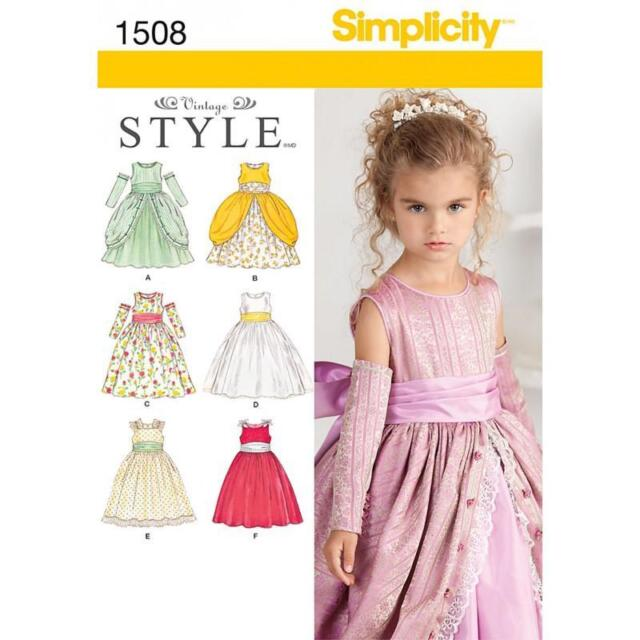 SIMPLICITY SEWING PATTERN Child's Special Occasion Dress sizes 4 5 6 7 8  1508
