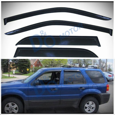 4pcs Smoke Tint Sun/Rain Guard Vent Shade Window Visors Fit 01-07 Ford Escape 2007 Ford Escape 4 Piece