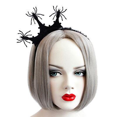 Headband Gothic Halloween Felt Spider Araneid Lace Crown Costume Ball - Halloween Spider Headband