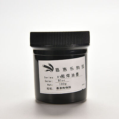 Pcb Uv Curable Solder Mask Repairing Paint Blue 100g New Tsus