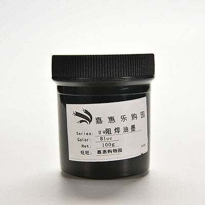 Pcb Uv Curable Solder Mask Repairing Paint Blue 100g New Tsus