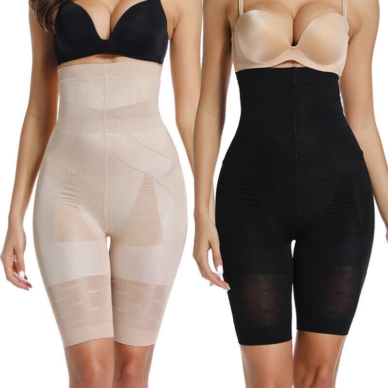 Damen Bodyshaper Hohe Taille Miederhose Bauchweg Slim Pants Shapewear Höschen DE