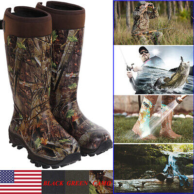 HISEA Men's Hunting Work Boots Waterproof & Insulated Rubber Neoprene Rain -