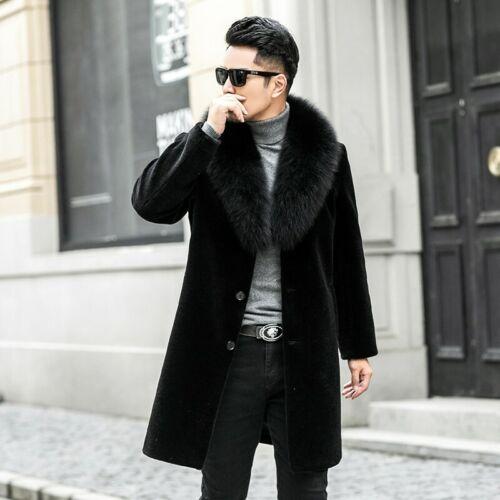 Men/'s Hooded Winter Mink Fur Jackets Warm Thicken Outwear Coat Formal Jacket New