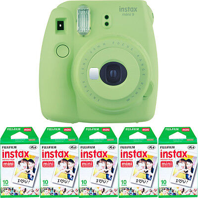 Fujifilm instax mini 9 Instant Film Camera (Lime Green) + 50 Fuji Mini Prints